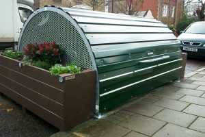 Bikehangar with Planters