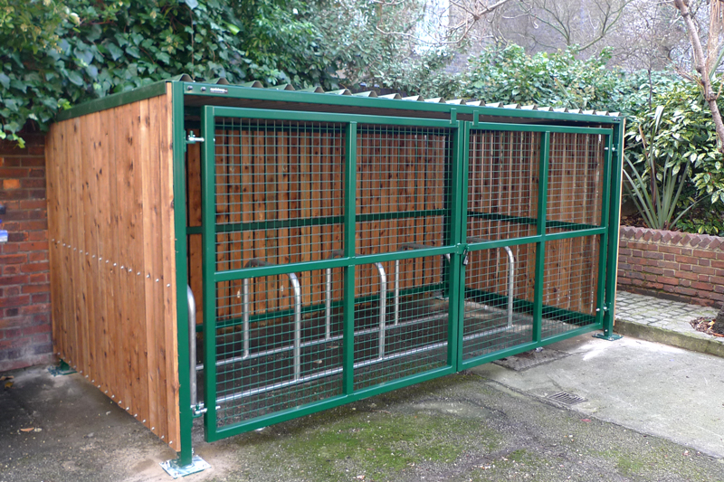 Wood Bike Shelters : Wooden bike shelter cyclehoop