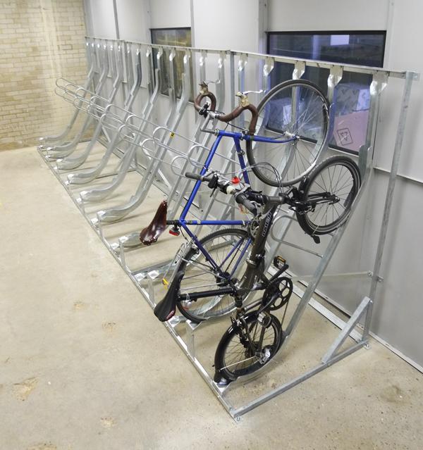Semi Vertical Bike Rack