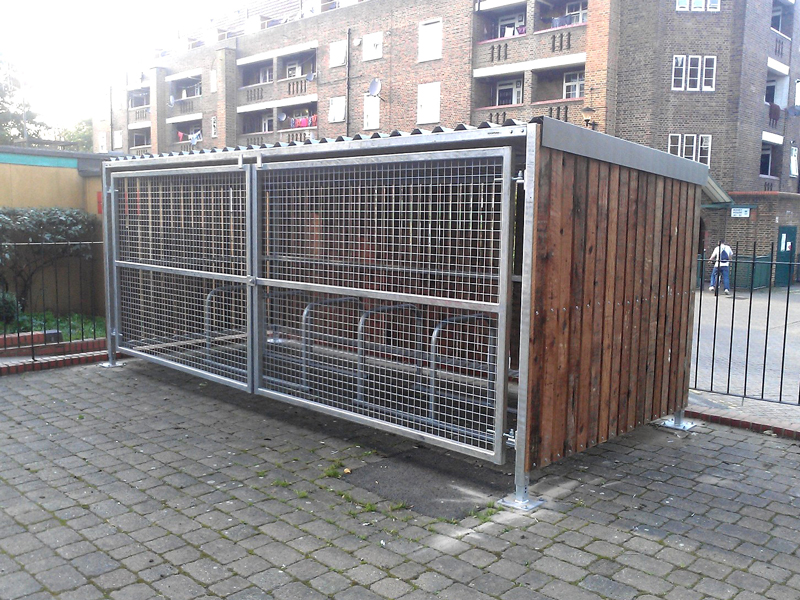 Wood Bike Shelters : Wooden bike shelter