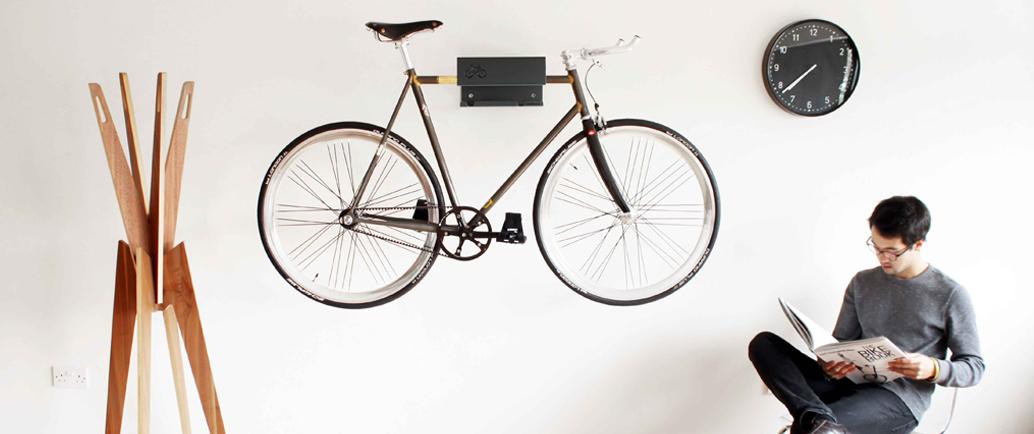 Minimalist Indoor Bike Rack Designed For Modern Cycle